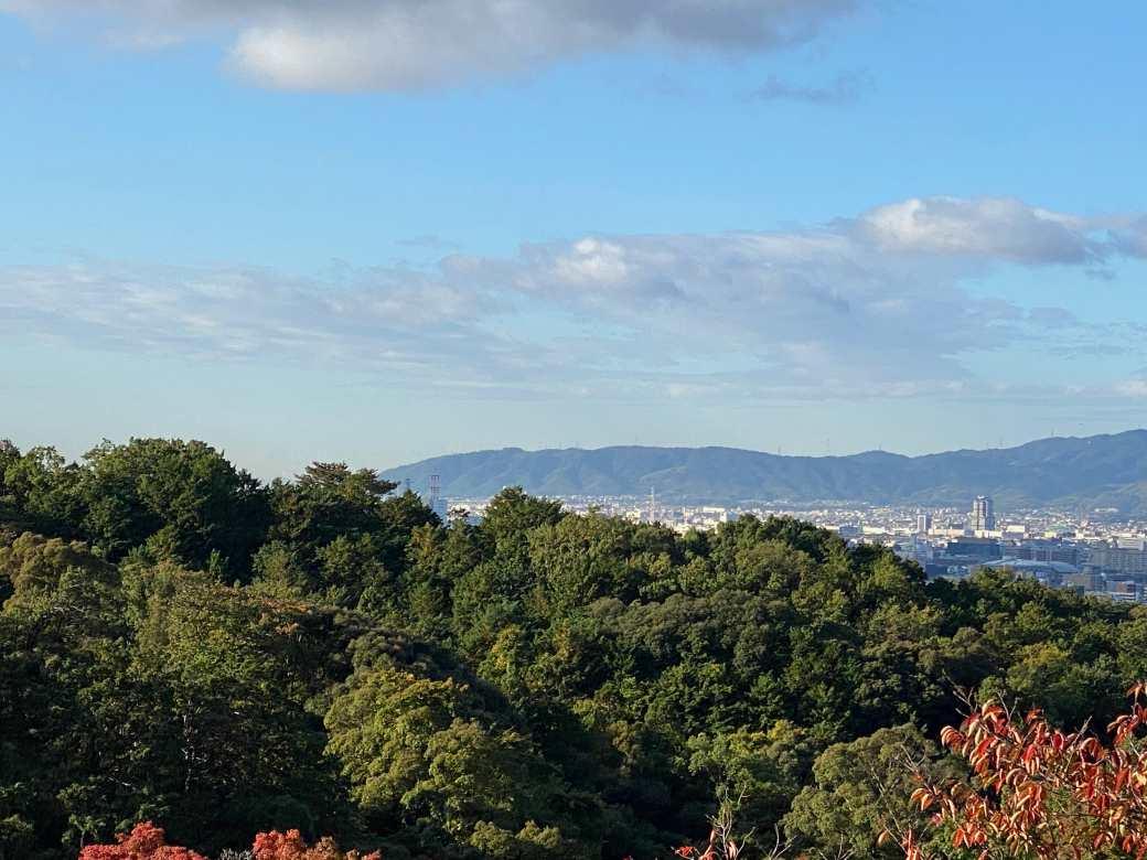 清水の舞台から見る京都市内